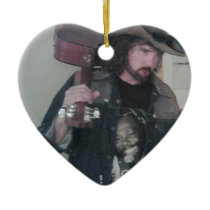 cowboy ceramic ornament