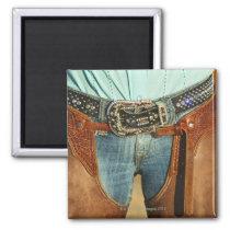 Cowboy chaps magnet