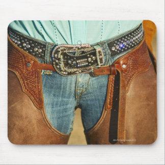 Cowboy chaps mouse pad