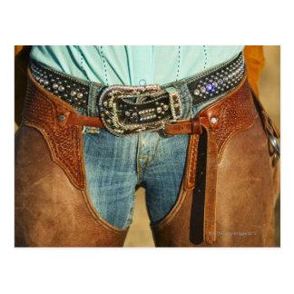 Cowboy chaps postcard