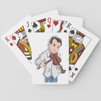 Cowboy Chris With Violin Playing Cards