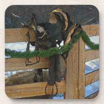 Cowboy Christmas Beverage Coaster