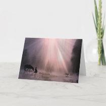 Cowboy Christmas Cards, Religious Faith Believe Holiday Card