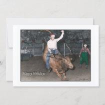 Cowboy Christmas Holiday Card