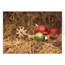 Cowboy Christmas in sepia Card