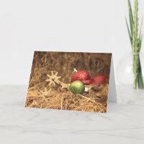 Cowboy Christmas in sepia Holiday Card