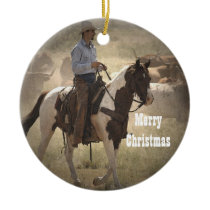 Cowboy Christmas Ornament