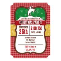 Cowboy Christmas Party Invitation