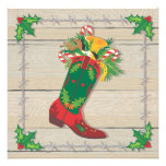 Cowboy Christmas Party Invitations