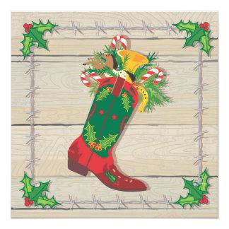Cowboy Christmas Party Invitations