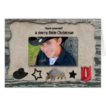 Cowboy Christmas Photo Christmas Card