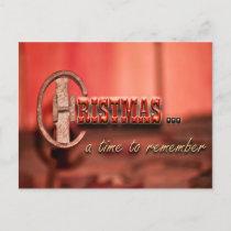 Cowboy Christmas Postcard