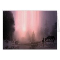 Cowboy Christmas Season's Greetings Card