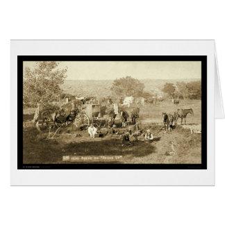 Cowboy Chuckwagon SD 1887 Card