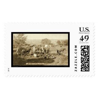 Cowboy Chuckwagon SD 1887 Stamp