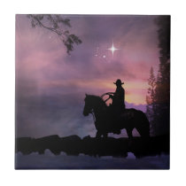 """Cowboy Church"" Art Tile"