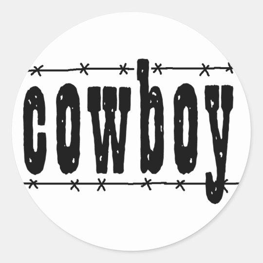 Cowboy Classic Round Sticker