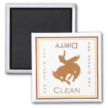 Cowboy Clean or Dirty Dishwasher Magnet