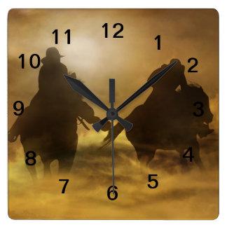 Cowboy Clock Square Wall Clock