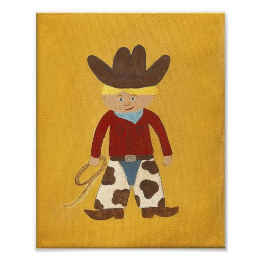 Cowboy Clyde Nursery Art - PRINT