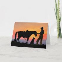 COWBOY COMPANIONS CARD