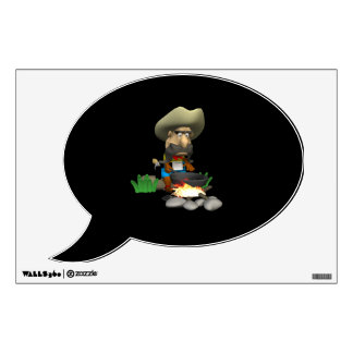 Cowboy Cooking Wall Decal