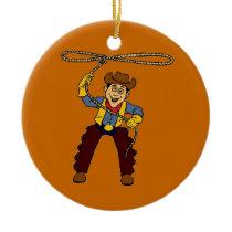 Cowboy Cool Ceramic Ornament