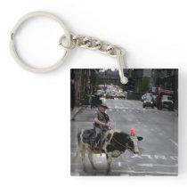Cowboy Cop Keychain