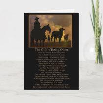 Cowboy Country Western Birthday Getting Older Card