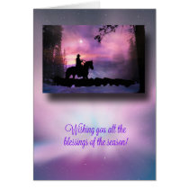 Cowboy Country Western Blessings Christmas Card