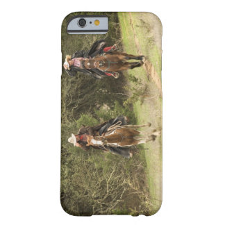 Cowboy couple riding horses barely there iPhone 6 case
