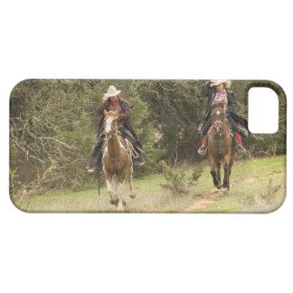 Cowboy couple riding horses iPhone SE/5/5s case