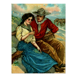 Cowboy Courtship Poster