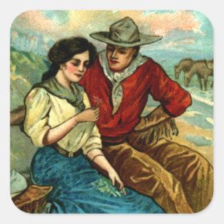 Cowboy Courtship Stickers