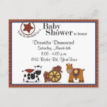 Cowboy/Cowgirl Baby Shower Invitation
