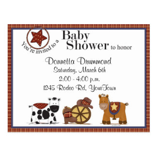 Baby Shower Invitation Postcards | Zazzle