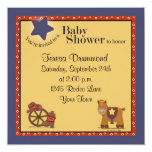 Cowboy & Cowgirl Baby Shower with Navy Card