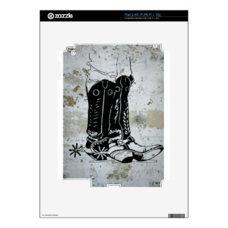 Cowboy Cowgirl Boots Western Spurs iPad 2 Decal