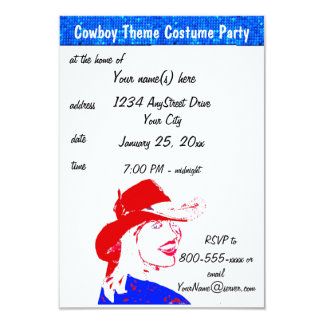 Cowboy & Cowgirl Costume Party Card