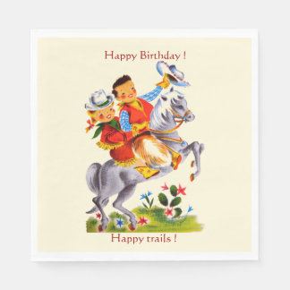 Cowboy Cowgirl Party Napkin
