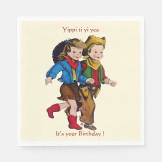 Cowboy Cowgirl Party Paper Napkin