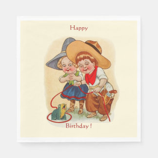 Cowboy, Cowgirl Party Paper Napkin