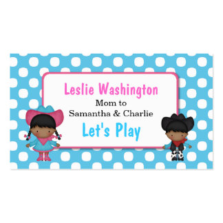 Cowboy & Cowgirl Play Date Card Double-Sided Standard Business Cards (Pack Of 100)