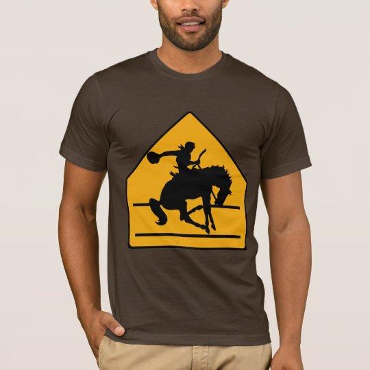 Cowboy Crosswalk Sign Shirt