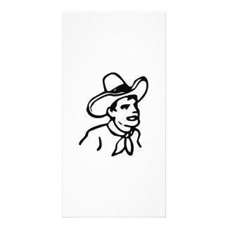Cowboy Custom Photo Card