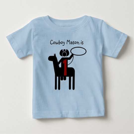 Cowboy Customizable Birthday T Shirt