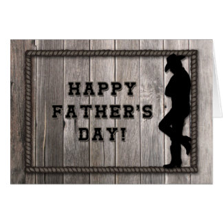 Cowboy Dad, Gray Rope, Western Rustic Father's Day Card