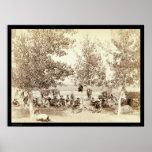 Cowboy Dinner Scene 1887 Print