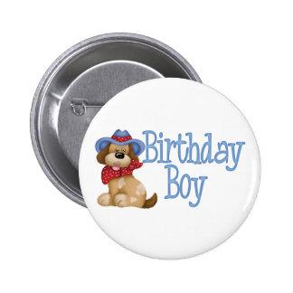 Cowboy Dog Birthday Boy 2 Inch Round Button