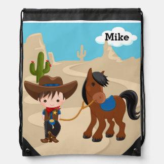 Cowboy Drawstring Backpack